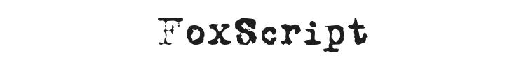 FoxScript Font Preview