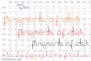 Fragments of Eter Font