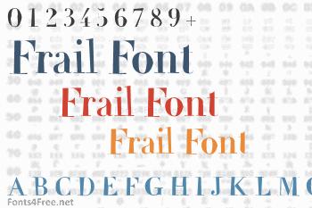 Frail Font