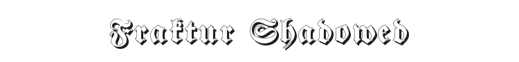 Fraktur Shadowed Font Preview