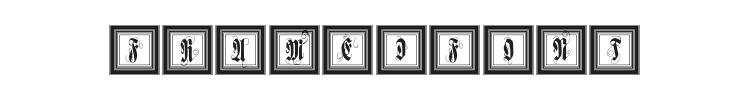 FramedFraxCaps Font Preview