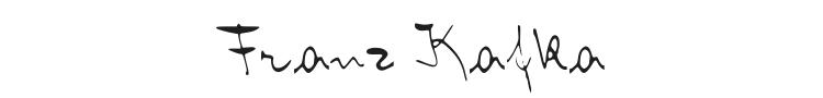 Franz Kafka Font Preview