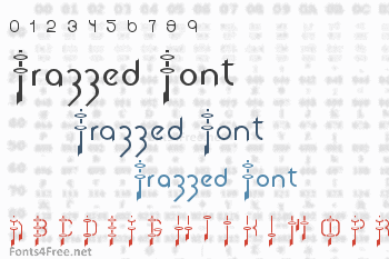 Frazzed Font
