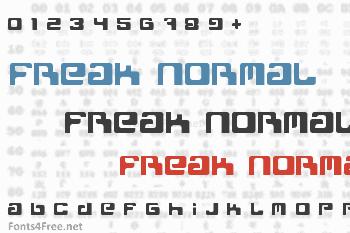 Freak Normal Font