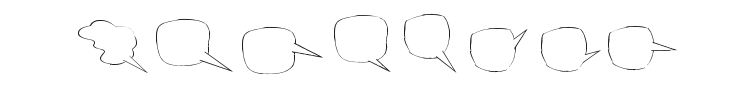 Freaky Comment Balloons LT Font Preview