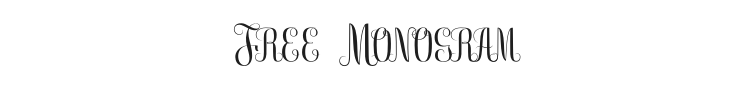 Free Monogram Font Preview