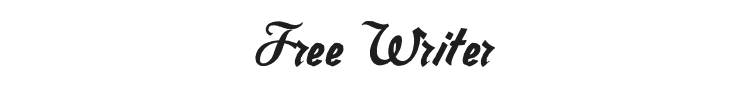 Free Writer Font Preview