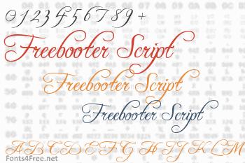 Freebooter Script Font