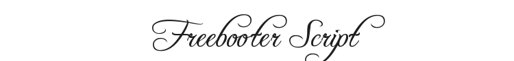 Freebooter Script Font Preview