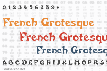 French Grotesque Font