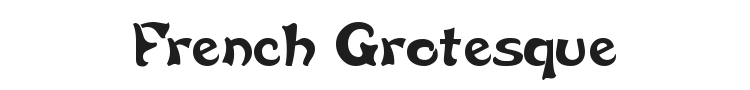 French Grotesque Font Preview