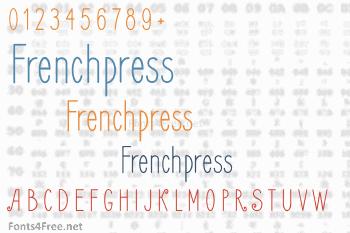 Frenchpress Font