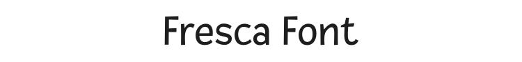 Fresca Font Preview