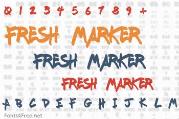 Fresh Marker Font