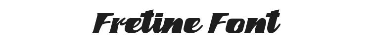 Fretine Font Preview