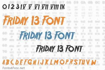 Friday 13 Font