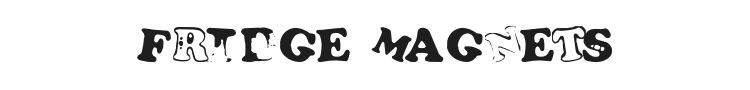 Fridge Magnets Font