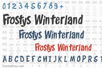 Frostys Winterland Font