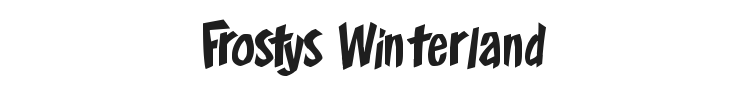 Frostys Winterland Font Preview