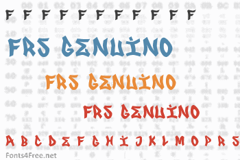 FRS Genuino Font