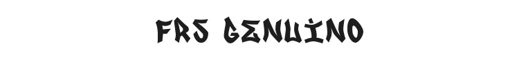 FRS Genuino Font Preview