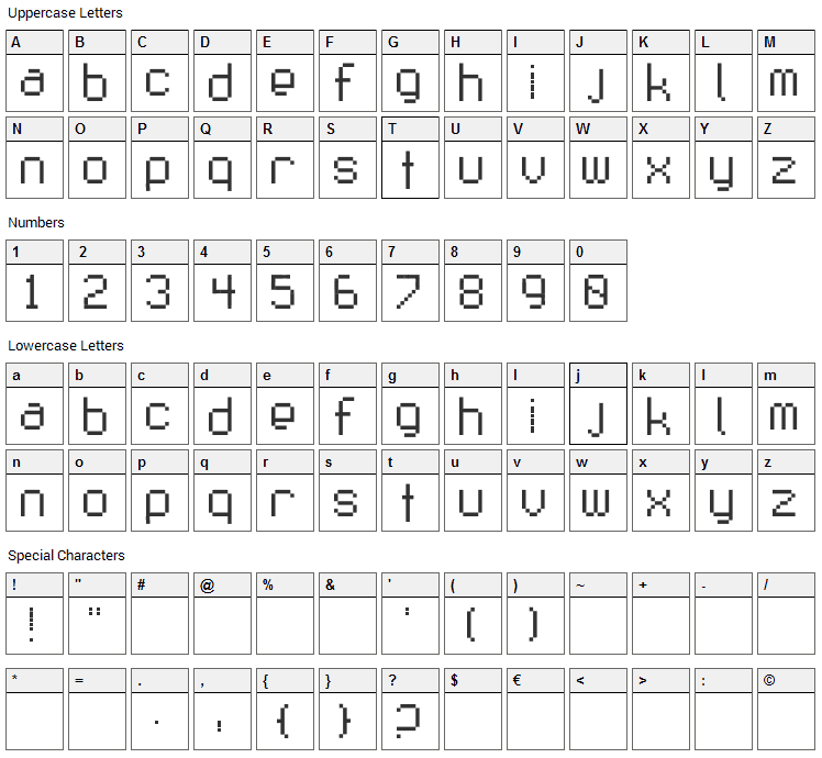 Fruit Salad Font Character Map