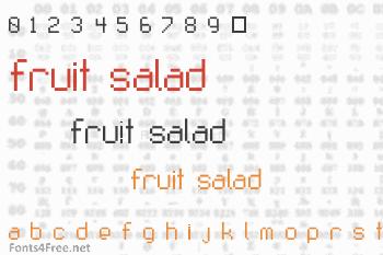 Fruit Salad Font