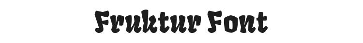 Fruktur Font Preview