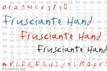 Frusciante Hand Font