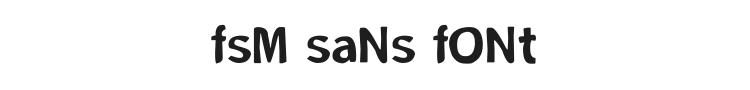FSM Sans Font