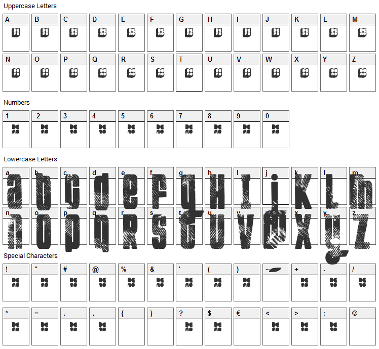 FT Kolari Font Character Map