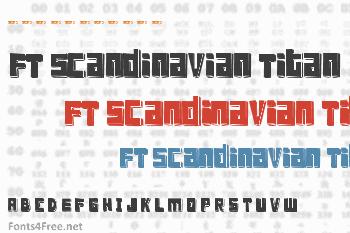 FT Scandinavian Titan Font