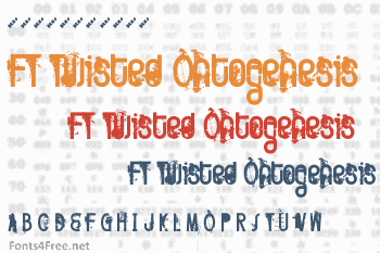 FT Twisted Ontogenesis Font