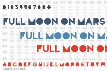 Full Moon On Mars Font