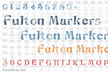 Fulton Markers Font