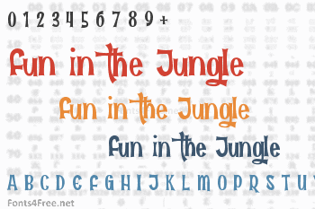 Fun in the Jungle Font