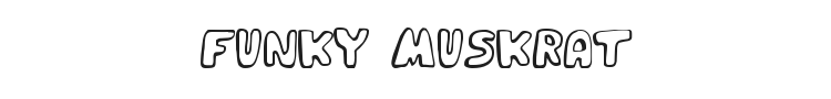 Funky Muskrat Font Preview