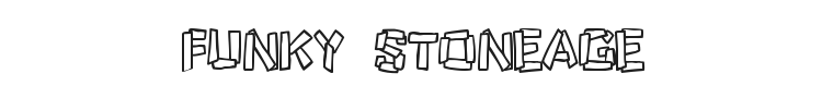 Funky Stoneage Font Preview