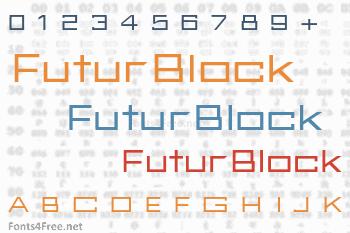 FuturBlock Font