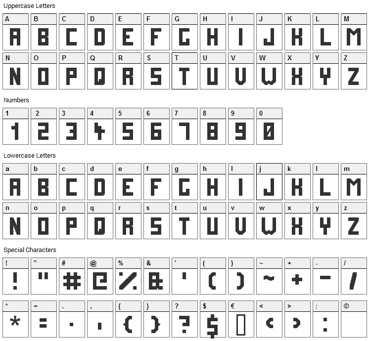 Future Millennium Font Character Map