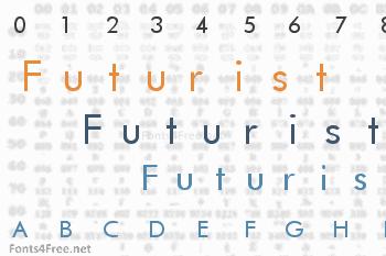 Futurist Fixed Width Font