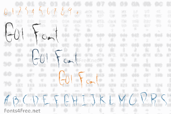 G01 Font
