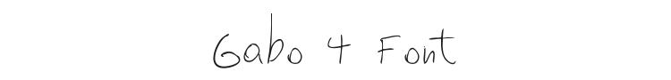 Gabo 4 Font Preview