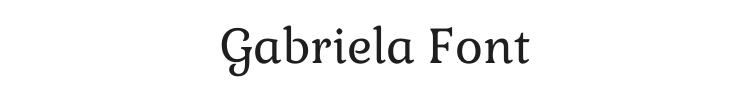 Gabriela Font Preview