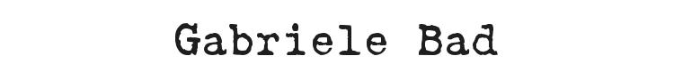 Gabriele Bad Font
