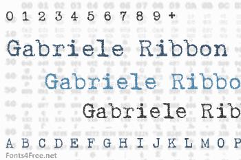 Gabriele Ribbon Font