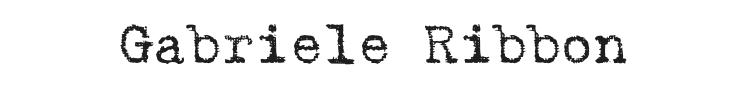 Gabriele Ribbon Font Preview