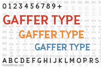 Gaffer Type Font