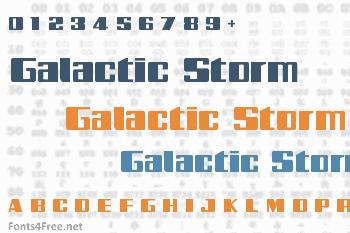 Galactic Storm Font