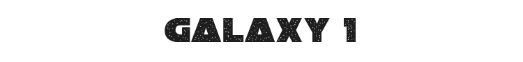 Galaxy 1 Font Preview